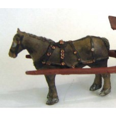 M4 Horse with harness Unpainted Kit O Scale 1:43