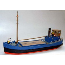 MB1 68ft Clyde Puffer-full hull-empty cargo hold Unpainted Kit OO Scale 1:76