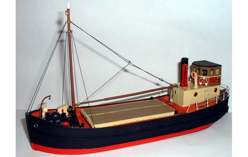 MB1a 68ft Clyde Puffer-Waterline version (resin)  Unpainted Kit OO Scale 1:76