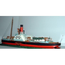 MB20 105' Paddle Steamer 'Hibernia' Unpainted Kit OO Scale 1:76