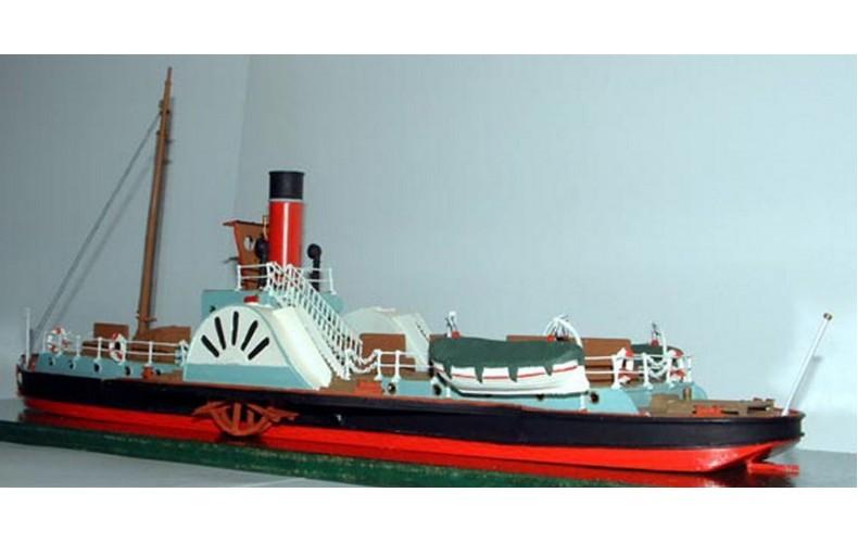 MB20 105' Paddle Steamer 'Hibernia' Unpainted Kit OO Scale 1:76