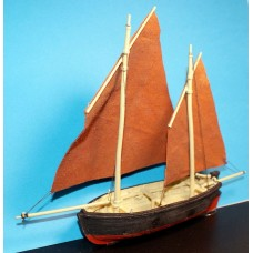 MB21 26ft Lugger Sailing Fishing Boat - Waterline Unpainted Kit OO Scale 1:76