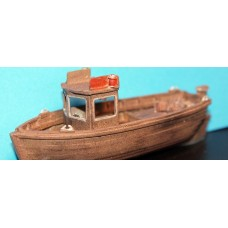 MB22 26ft cabin Crabber Fishing Boat Waterline Unpainted Kit OO Scale 1:76