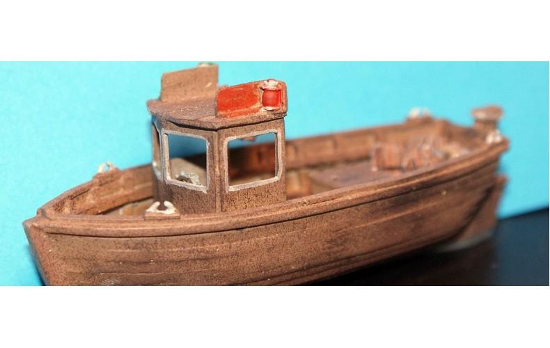 MB22 26ft cabin Crabber Fishing Boat Waterline Unpainted Kit OO Scale 1:76