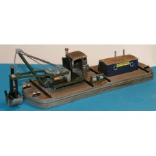MB24 NEW Grafton Steam Grab Dredger 50ft Unpainted Kit OO Scale 1:76