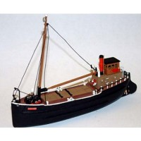 NMB11a 70ft Steam Coaster 'Puffer' waterline Unpainted Kit N Scale 1:148