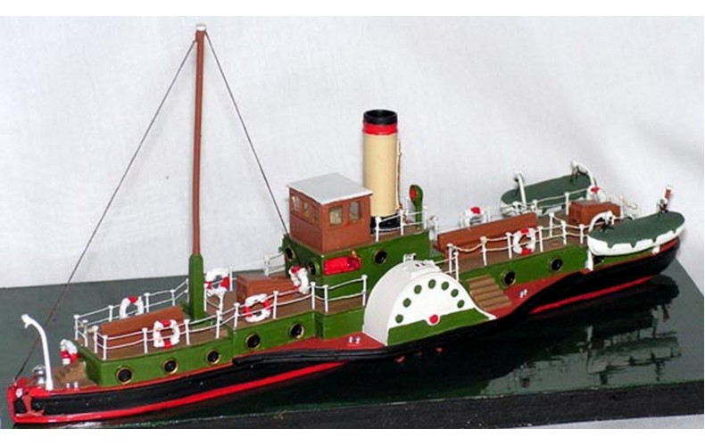 NMB12 105ft Paddle Steamer 'Hibernia' Unpainted Kit N Scale 1:148