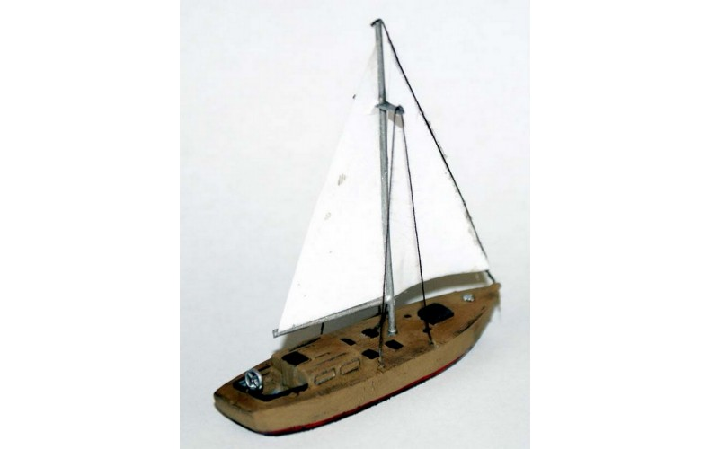 NMB13 30ft Wooden Sailing Yacht Unpainted Kit N Scale 1:148