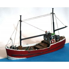 NMB17 NEW Fishing/Trawler wooden 64' Unpainted Kit N Scale 1:148