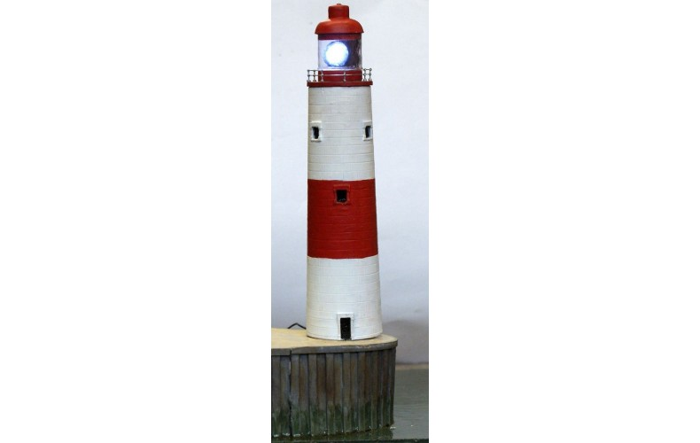 NMB19 Stone Lighthouse 98ft (198mm) Unpainted Kit N Scale 1:148