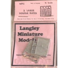 NP11 2 large Double Gates Unpainted Kit N Scale 1:148