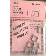 NP2d 6 small plain Victorian Windows Unpainted Kit N Scale 1:148