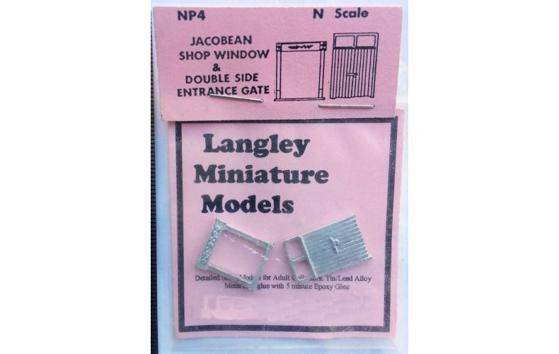 NP4 Large Shop Window & Side Gate Unpainted Kit N Scale 1:148