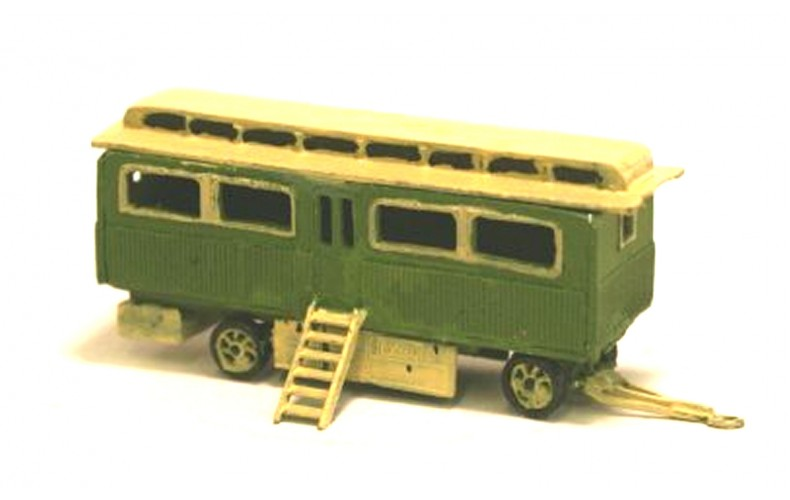 NQ16 Fairground Panelled living Wagon Unpainted Kit N Scale 1:148