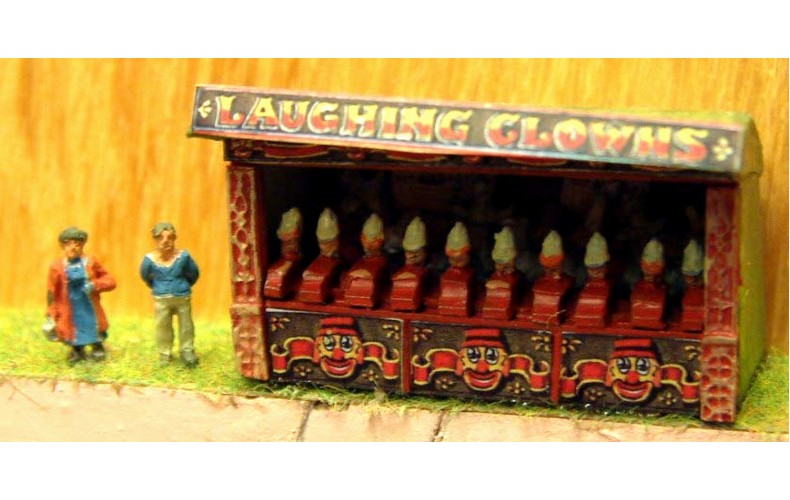 NQ4 Laughing Clowns - Side Stall Unpainted Kit N Scale 1:148