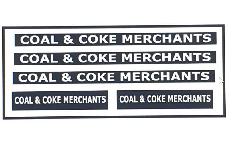 NT10 Coal & Coke Merchant Decals for E22 Coal Cart ( N Scale 1/148th)
