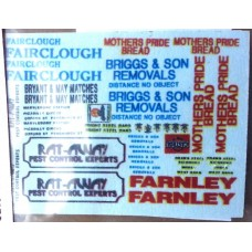 NT3 assorted vehicle decals - set 2 Unpainted Kit