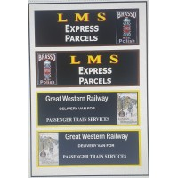 NT7 LMS or GWR Decals for E14 Parcel Van ( N Scale 1/148th)