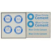 NT8 Blue Circle Decals for E50 Cement Mixer ( N Scale 1/148th)