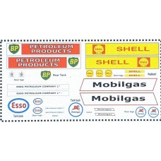 NT9 4 x different Bulk Fuel Tanker Decals for E36/37 (N scale 1/148th)