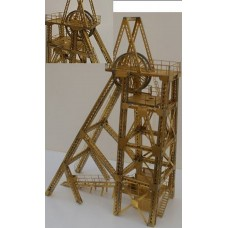 NV12set Lattice Pitt Head frame head Unpainted Kit N Scale 1:148