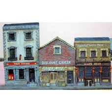 NV2set Pub, Post Office & shop Unpainted Kit N Scale 1:148