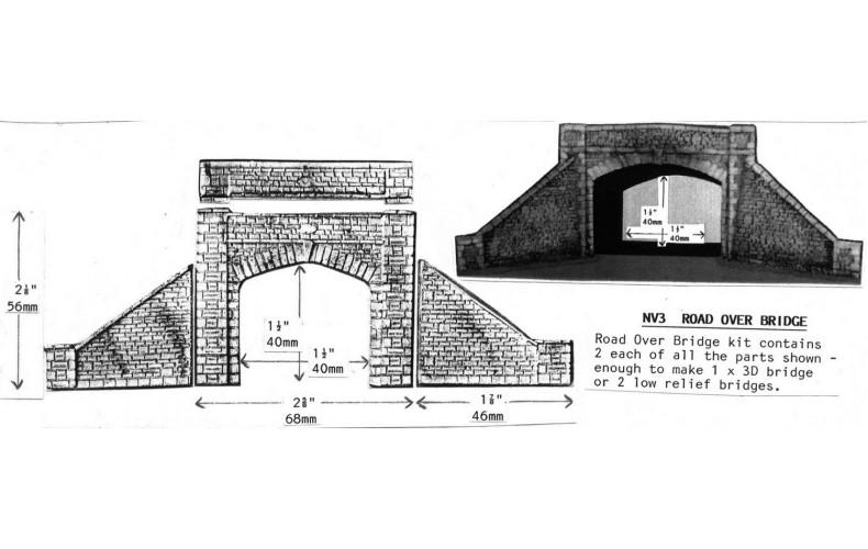 NV3 Road over bridge (both sides) Unpainted Kit N Scale 1:148