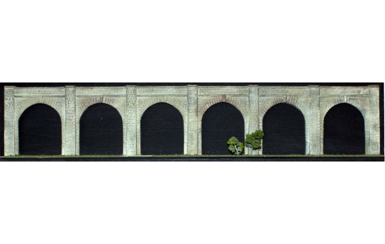 "NV6 Viaduct - 6 arches (1 x 14"") Unpainted Kit N Scale 1:148"