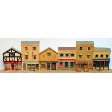 NV8set Parade of 6 shops Unpainted Kit N Scale 1:148