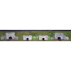NV9 Water Culverts (2 large, 2 small) Unpainted Kit N Scale 1:148