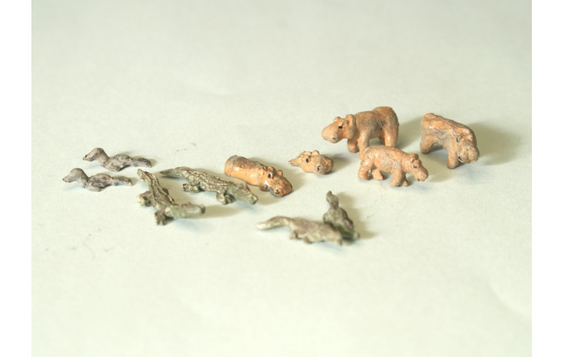 NZ3 Zoo Water Based Animals crocs,hippo,seal Unpainted Kit N Scale 1:148