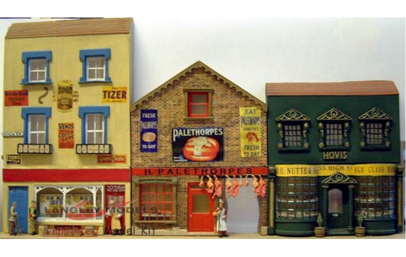 OB1 3 Ass Shops (Basic building Set) Unpainted Kit O Scale 1:43