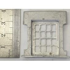 OC12 Small Victorian Window plus bars (O scale 1/43rd)
