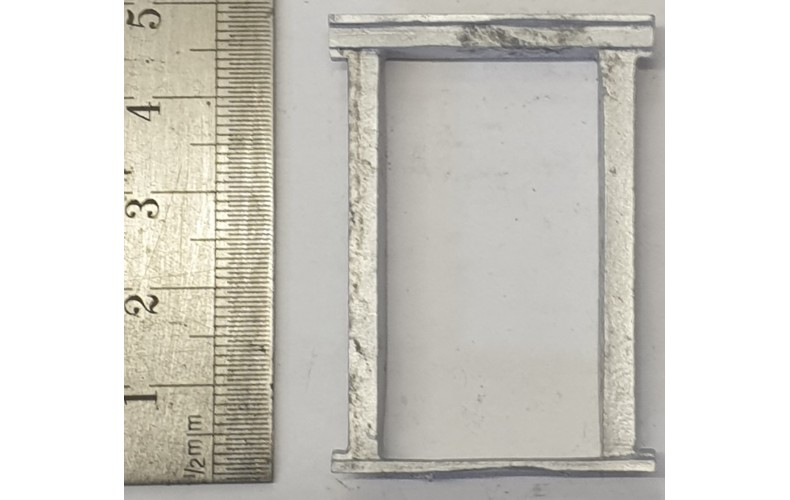 OC9b Large Window - Jacobean Unpainted Kit O Scale 1:43