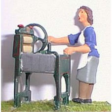 OF14 Woman & Mangle 1940/50's Unpainted Kit O Scale 1:43