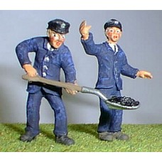 OF17p Painted Loco Driver and Fireman O Scale 1:43