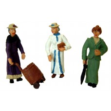 OF19 3 Vic/Edw Women standing shopping Unpainted Kit O Scale 1:43