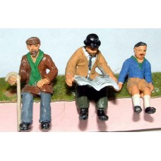 OF24 3 seated Men Unpainted Kit O Scale 1:43