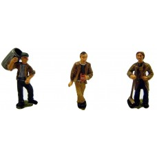 OF26 3 Municipal/council workers & dustbin Unpainted Kit O Scale 1:43