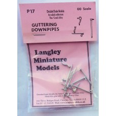 P17 Guttering downpipes, outlets etc. Unpainted Kit OO Scale 1:76