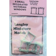 P1b 4 small decorated Georgian windows Unpainted Kit OO Scale 1:76