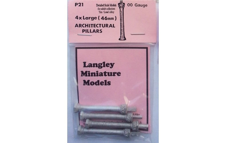 P21 4 Decorated Columns 46mm long Unpainted Kit OO Scale 1:76
