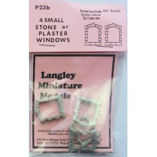 P23b 4 small Stone edged windows Unpainted Kit OO Scale 1:76