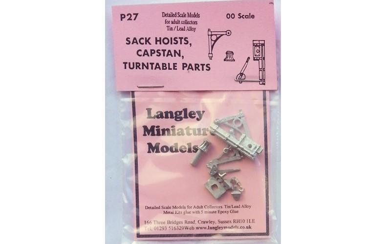 P27 Sack hoists, capstan & turntable parts Unpainted Kit OO Scale 1:76