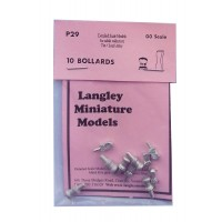 P29 5 steel & 5 Oak mooring bollards Unpainted Kit OO Scale 1:76