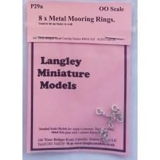 P29a 8 Steel Mooring/tying rings Unpainted Kit OO Scale 1:76