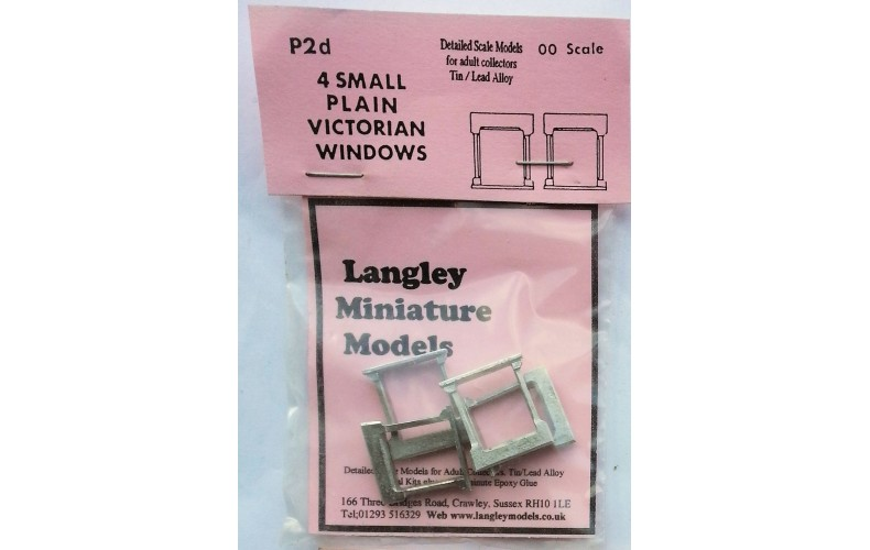 P2d 4 small Plain Victorian windows Unpainted Kit OO Scale 1:76