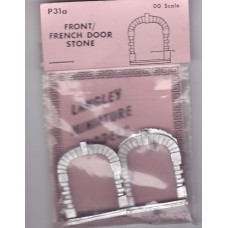 P31a 2 front or French doors - stone edged Unpainted Kit OO Scale 1:76
