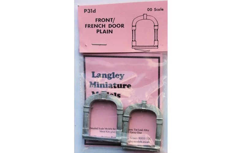 P31d 2 front of French doors - plain Unpainted Kit OO Scale 1:76