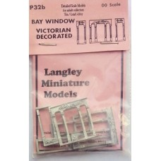 P32b 2 Bay Windows - Victorian decorated Unpainted Kit OO Scale 1:76